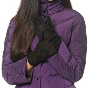 Зимние женские перчатки коричневые