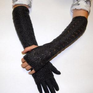 Длинные перчатки женские
