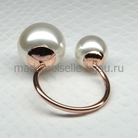 Кольцо с шариками La Perla Gold Duo