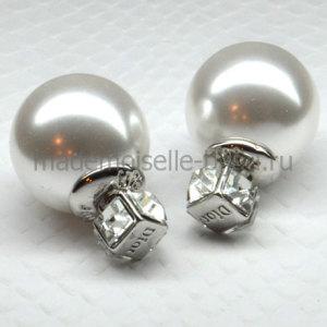 Серьги шарики с кристаллом Fashion La Perla Crystal Quattro