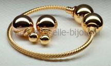 Браслет с шарами под золото Fashion Golden Lux