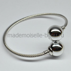 Браслет с серебристыми шариками Fashion Silver Lux