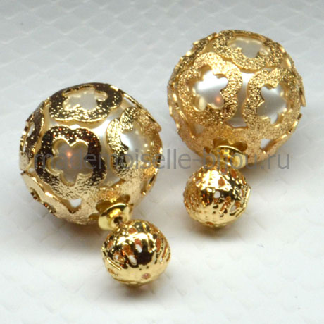 """Золотые шарики с """"жемчужиной"""" внутри Royal La Perla Golden Louis"""
