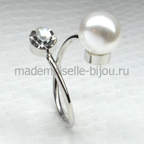 Кольцо с шариком и кристаллом La perla Cristal Mini S