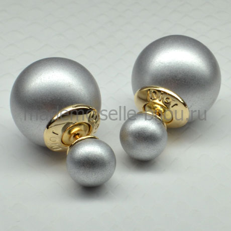 Серьги серебряные шарики Fashion Silver LUX Matt