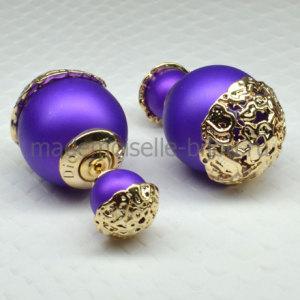 Элитные серьги Elite Purple Golden Dream