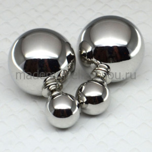 Серьги серебряные шарики Fashion Silver Lux
