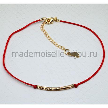Красный браслет нитка Por Sorto (на счастье, эсперанто)