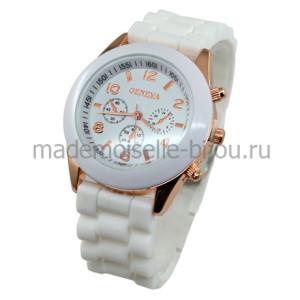 Часы белые наручные женские Женева Wite