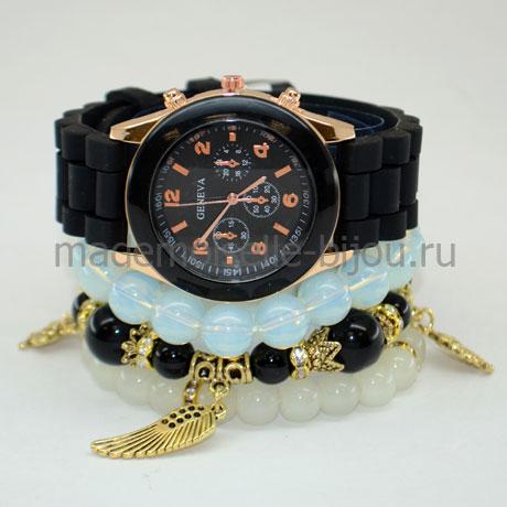 Набор браслетов с часами Black