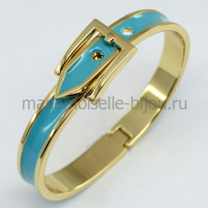 Металлический браслет с эмалью Hermes Blue Lagoon