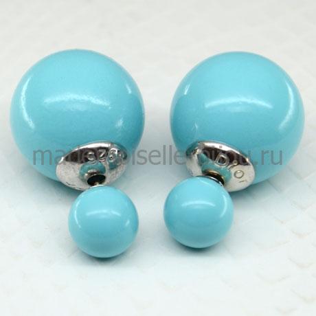 Серьги шарики серебро Premium Sky Lux 925