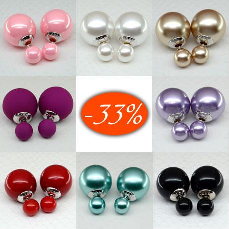 Серьги шарики 925 набор из ЧЕТЫРЕХ ПАР Premium Quatro Lux. Любые цвета из ассортимента на выбор