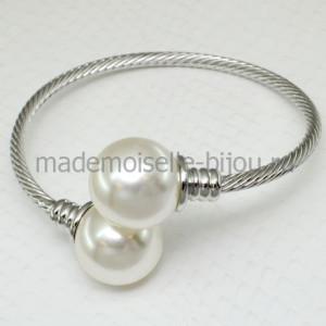 Браслет серебристый с жемчужными шариками La Perla Lux Silver