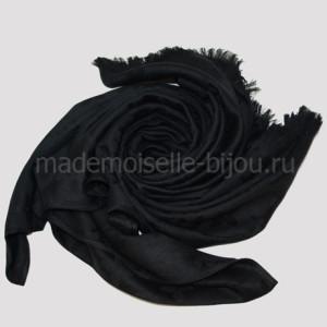 Палантин теплый черный Louis Noir