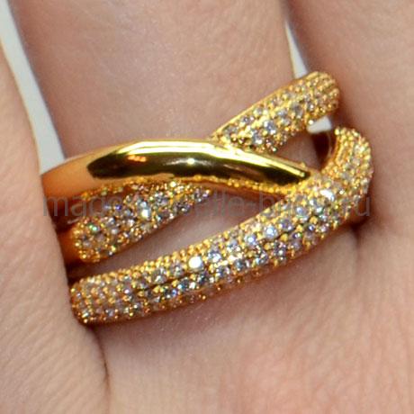 Кольцо в стиле Грисогоно Golden Cross