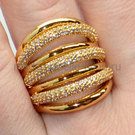 Кольцо в стиле Грисогоно Golden Arc