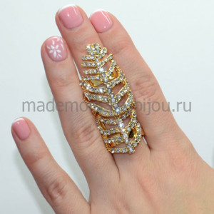 Кольцо на весь палец Golden Light