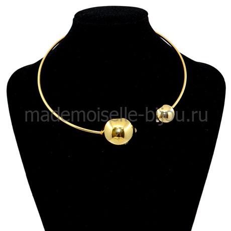 Колье с золотыми шарами Mon Cher Gold