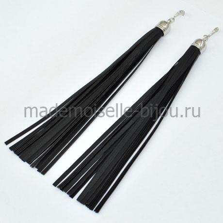 Длинные серьги кисточки черные Oscar Grand Nior S (17 cm)