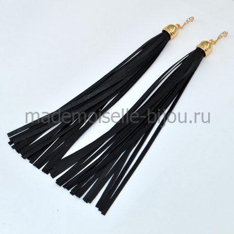 Длинные серьги кисти черные Oscar Grand Nior G (17 cm)