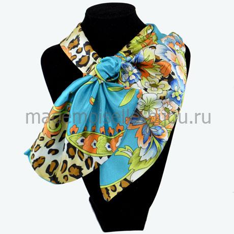 Французский платок голубой Jungle