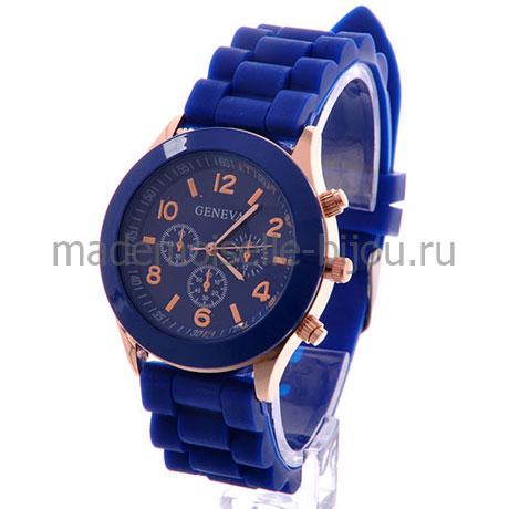 Часы женские наручные синие Jeneva Indigo