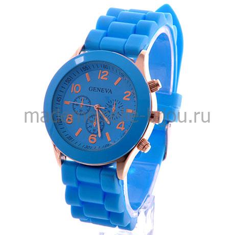 Часы женские голубые Geneva Blue