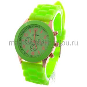 Часы зеленые женские Jeneva Lime