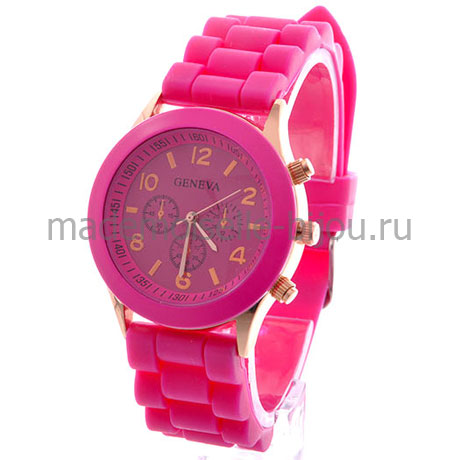 Часы женские розовые Geneva Wild Pink