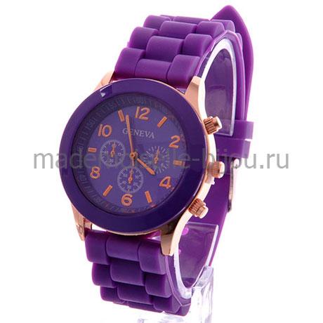 Силиконовые часы Женева Purple