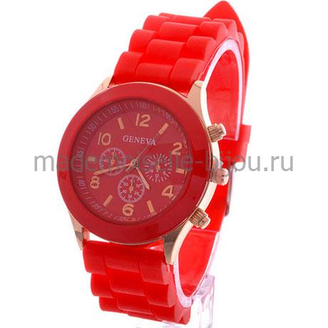 Часы женские красные Женева Red