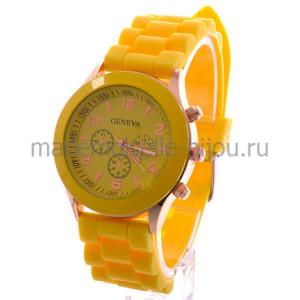 Часы женские на силиконовом браслете Женева Sunlight