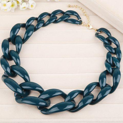 Крупное ожерелье цепь