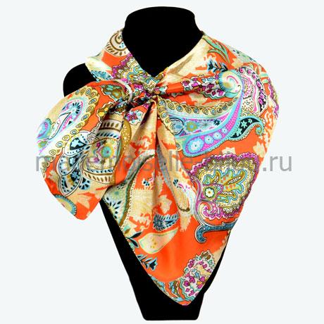 Французский платок с петлей Orange Paisley