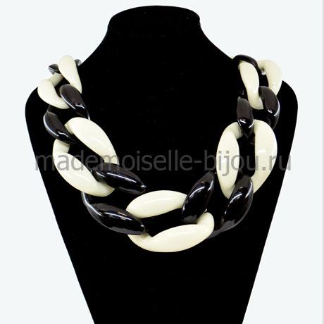 Массивное колье цепь Black & White