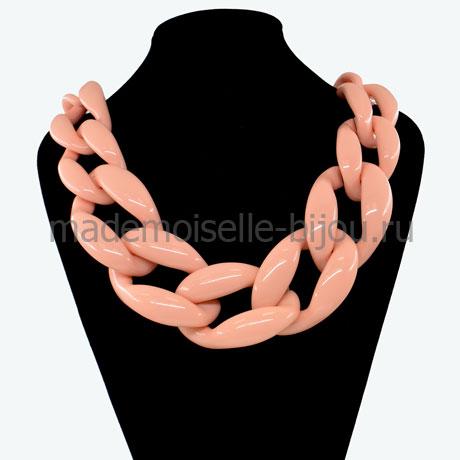 Ожерелье крупная цепь из пластика Coral