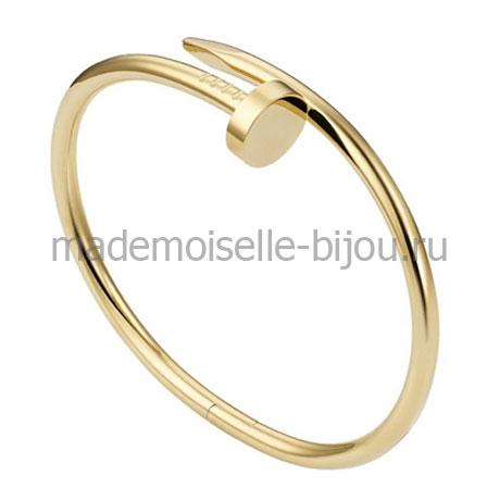 Браслет Картье гвоздь Golden LUX
