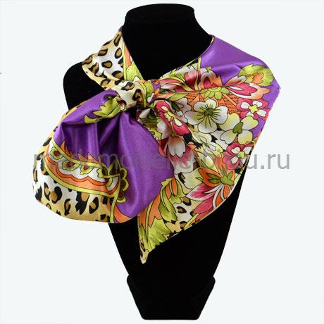 Французский платок лиловый Lilu