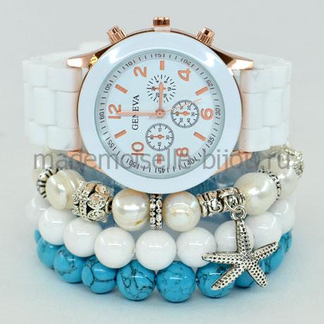 Набор браслетов с часами White