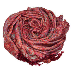 Палантин из пашмины красный Pashmina Red