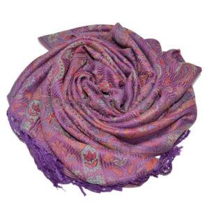 Палантин шарф пашмина лиловый Pashmina Lilu