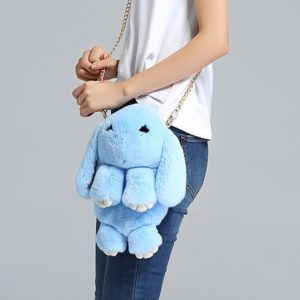 Меховая сумка кролик