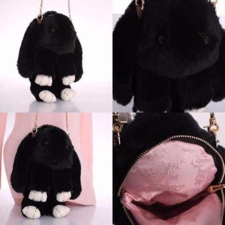 Меховой рюкзак кролик