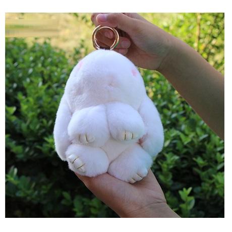Брелок кролик из натурального меха