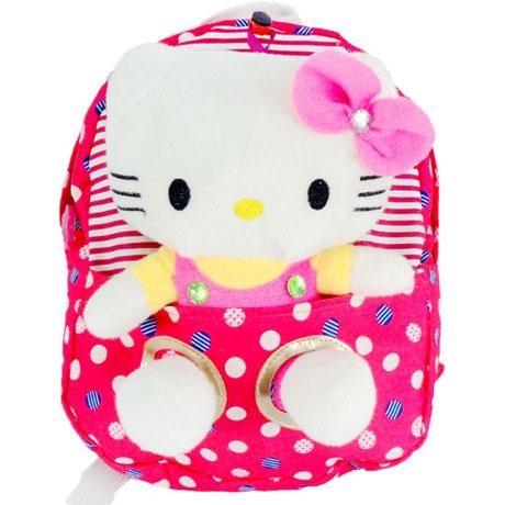 Детский рюкзак игрушка Hello Kitty Pink