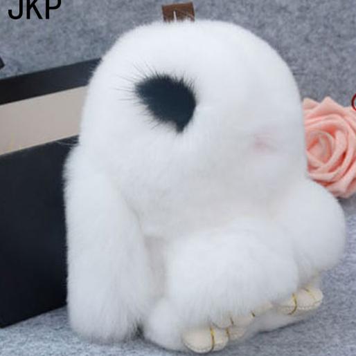 Брелок кролик из меха с РЕСНИЧКАМИ