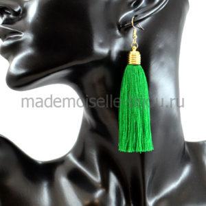 Модные серьги кисти зеленые Oscar Classic Green