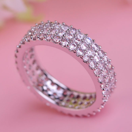 Кольцо дорожка серебряное