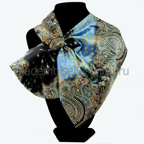 Шейный платок женский Paisley Black&Blue